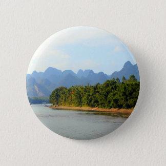 Li River, China 6 Cm Round Badge