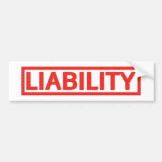 Liability Stamp Bumper Sticker