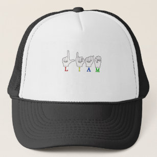 4eb2c7a5 LIAM ASL FINGERSPELLED NAME SIGN TRUCKER HAT