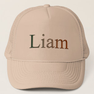 d70a0c93 LIAM Name Branded Personalised Gift Hat