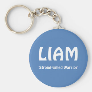 LIAM, 'Strong-willed Warrior' Key Ring