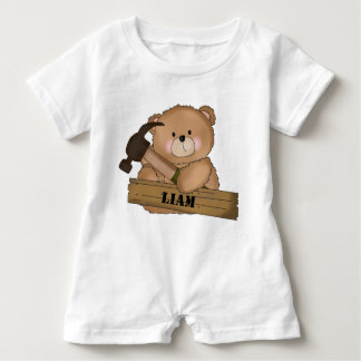 Liam's Builder Bear Personalized Gifts Baby Bodysuit