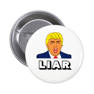Liar Trump 6 Cm Round Badge