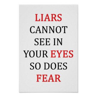 Liars Eyes Fear Poster