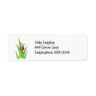 Libby the Ladybug Address Label