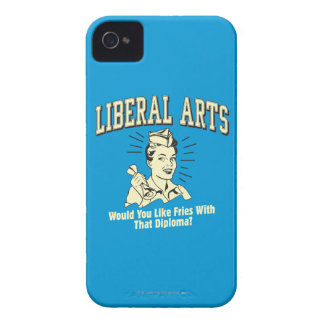 Liberal Arts: Like Fries With Diploma iPhone 4 Cases