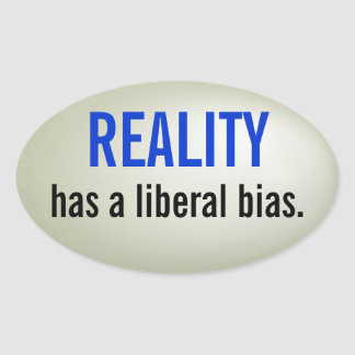 Liberal bias sticker - raised