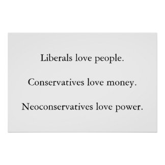 Liberal Conservative Neoconservative Posters