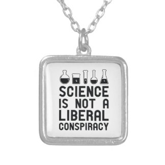 Liberal Conspiracy Silver Plated Necklace