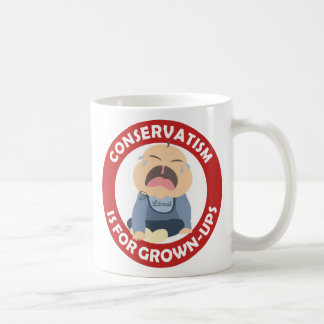 liberal democrat crying baby conservative grownup coffee mug