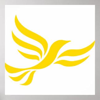 Liberal Democrats Logo Poster