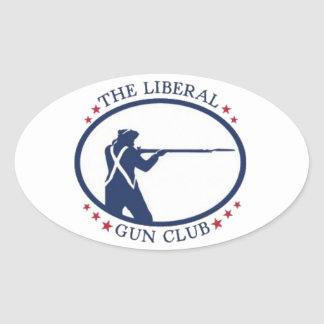 Liberal Gun Club Oval Sticker sheet
