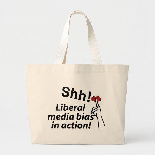 Liberal Media Bias Tote Bags