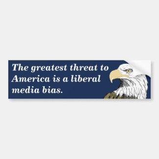 Liberal Media Bias Smith Bumper Stickers
