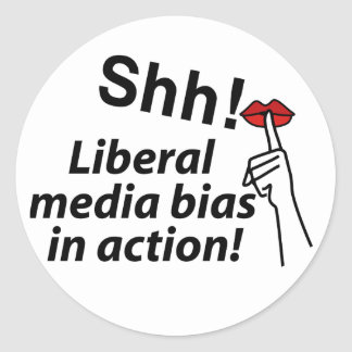 Liberal Media Bias Sticker