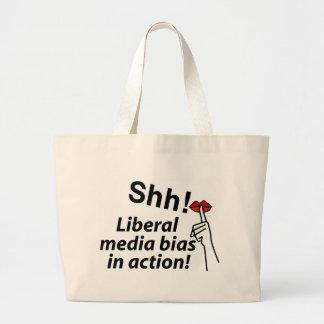 Liberal Media Bias Jumbo Tote Bag