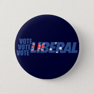 Liberal Party of Australia 6 Cm Round Badge