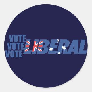 Liberal Party of Australia Round Sticker