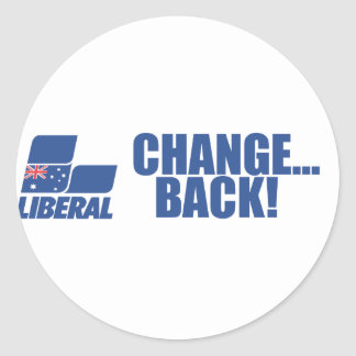 Liberal Party of Australia Round Sticker
