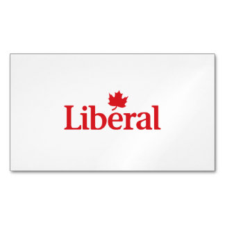 Liberal Party of Canada Magnetic Business Cards