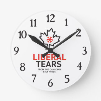 Liberal Tears Salt Mines Canada Funny Federalist Round Clock