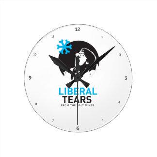 Liberal Tears Salt Mines MAGA Democrats crying Round Clock