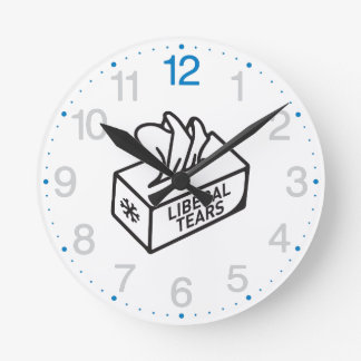 Liberal Tears Tissues box Funny CUSTOMIZE IT! Round Clock