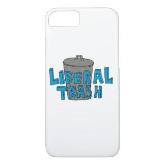 Liberal Trash Blue Lettering Phone Case