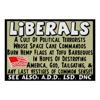 Liberals: Political Terrorists! Poster