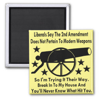 Liberals Say The 2nd Amendment Does Not Apply Square Magnet