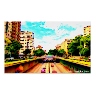 Liberating avenue - Caracas by Zalera. Poster