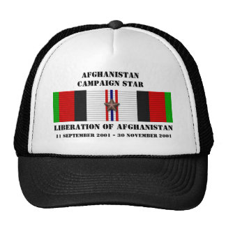 Liberation of Afghanistan CAMPAIGN STAR Trucker Hats