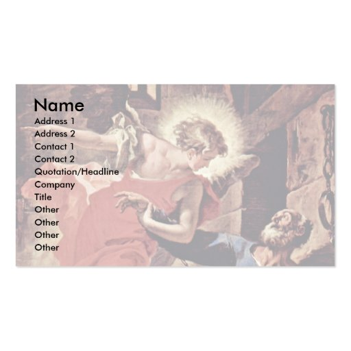 Liberation Of Saint Peter By An Angel By Ricci Business Card Templates