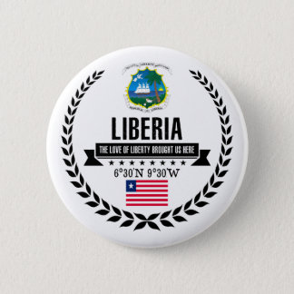 Liberia 6 Cm Round Badge