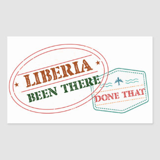 Liberia Been There Done That Rectangular Sticker