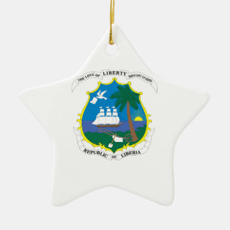 Liberia Coat of Arms Ceramic Ornament
