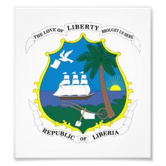 Liberia Coat Of Arms Photographic Print