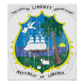 Liberia Coat Of Arms Poster