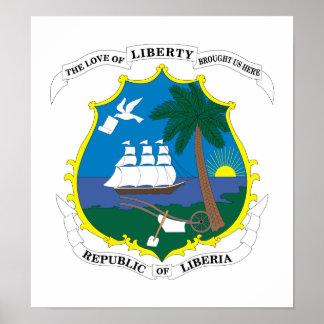 Liberia Coat Of Arms Print