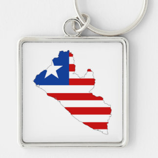 liberia country flag map shape symbol key ring
