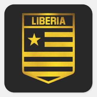 Liberia Emblem Square Sticker