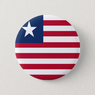 Liberia flag 6 cm round badge