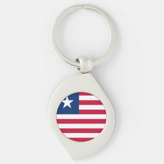 Liberia Flag Key Ring