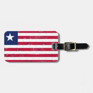 Liberia Flag Luggage Tag