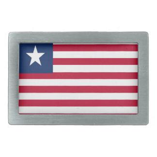 Liberia flag rectangular belt buckles