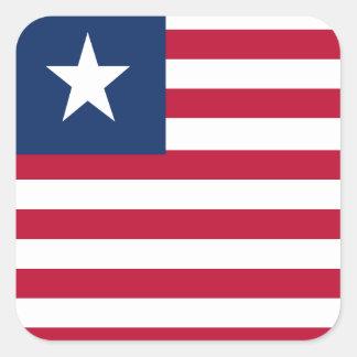 Liberia flag square sticker