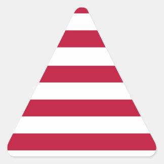 Liberia flag triangle sticker