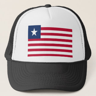 Liberia flag trucker hat