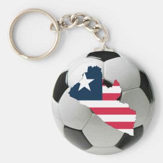 Liberia football soccer key chains