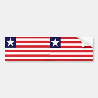 Liberia liberian flag bumper sticker